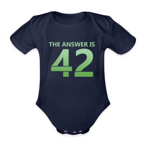 42 - Organic Short-sleeved Baby Bodysuit
