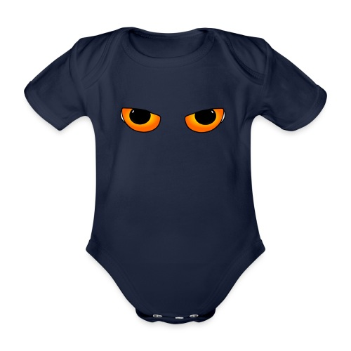 Cateyes - Organic Short-sleeved Baby Bodysuit