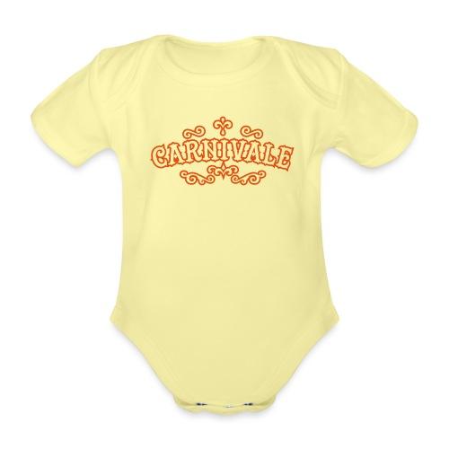 logo carnivale solo outli - Baby bio-rompertje met korte mouwen