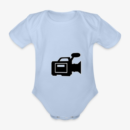 camera - Kortærmet babybody, økologisk bomuld