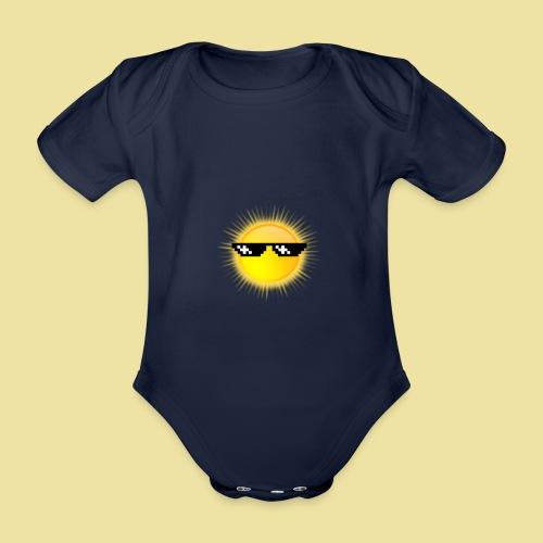 coole Sonne mit Sonnenbrille - Baby Bio-Kurzarm-Body