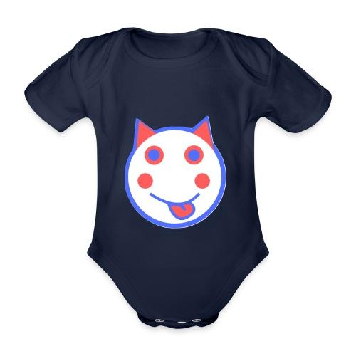 Red White And Blue - Alf Da Cat - Organic Short-sleeved Baby Bodysuit