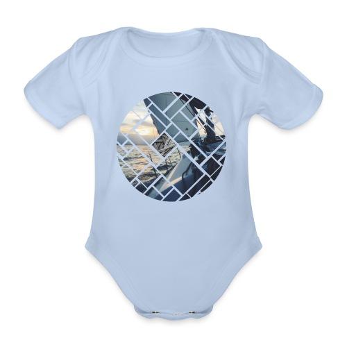 Ocean Sailing Graphic Design - Baby Bio-Kurzarm-Body