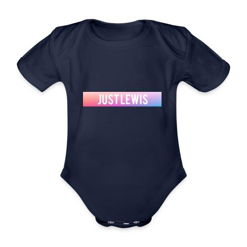 Just Lewis Box Logo - Organic Short-sleeved Baby Bodysuit