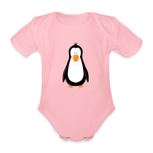 Pinguin Fridolin - Baby Bio-Kurzarm-Body