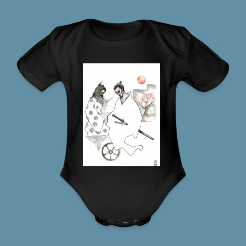 Samurai copia jpg - Body ecologico per neonato a manica corta