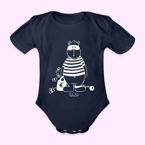 T-Shirt Bio schwarz RäuBär - Baby Bio-Kurzarm-Body