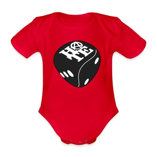 Black - Organic Short-sleeved Baby Bodysuit