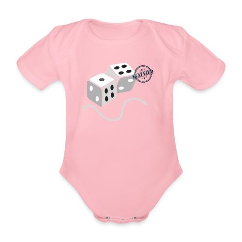 Dice - Symbols of Happiness - Organic Short-sleeved Baby Bodysuit
