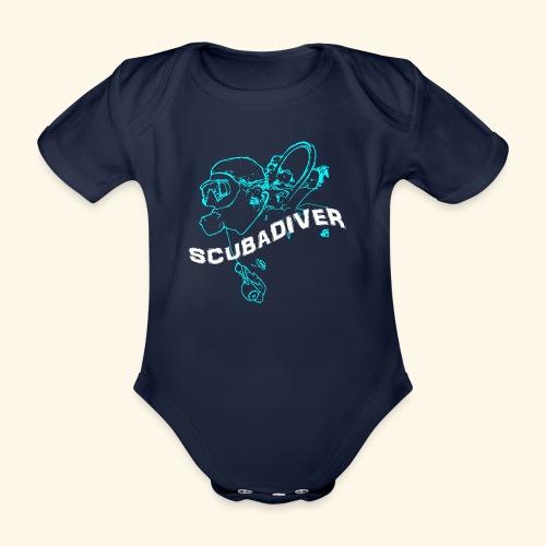 ScubaDiverShirt001 - Baby bio-rompertje met korte mouwen