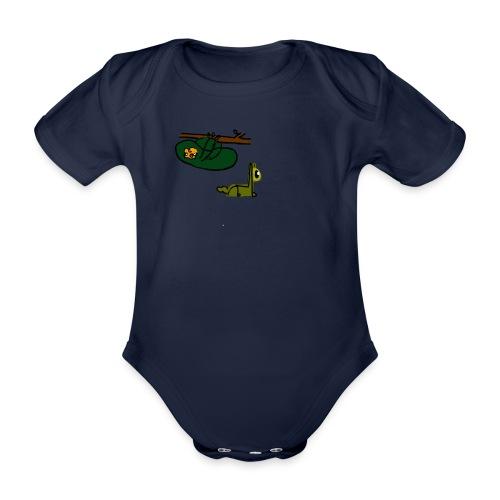 Sloth + Llama - Organic Short-sleeved Baby Bodysuit