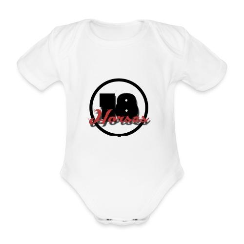 18 Horses - NKPG (White) - Ekologisk kortärmad babybody