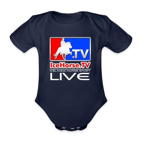 IceHorse logo - Organic Short-sleeved Baby Bodysuit
