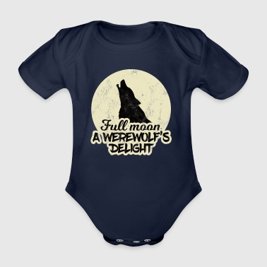 Loup-garou / Halloween Pleine Lune. Delig de loup-garou - Body bébé bio manches courtes
