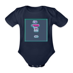 baby tshirt with ive subed to my channel - Organic Short-sleeved Baby Bodysuit