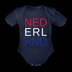 Nederland in de kleuren van de vlag - Baby bio-rompertje met korte mouwen