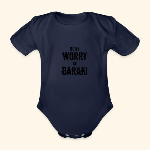 Be Baraki (Noir) - Body Bébé bio manches courtes