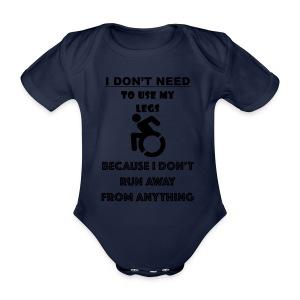 Legs - Baby bio-rompertje met korte mouwen