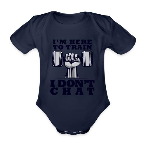Train Chat - Vauvan lyhythihainen luomu-body