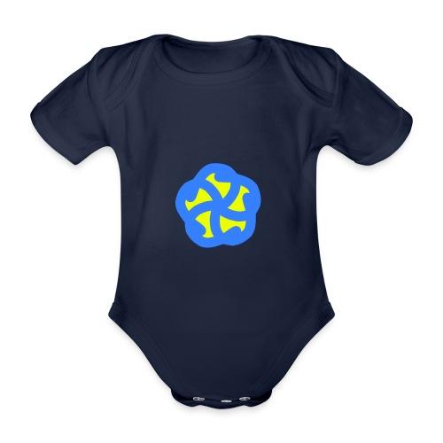Blau Gelbe Blühte - Baby Bio-Kurzarm-Body