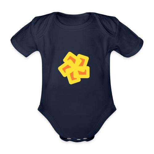 Abstrakte Zeichnung - Baby Bio-Kurzarm-Body