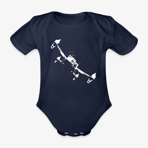 quadflyby2 - Organic Short-sleeved Baby Bodysuit