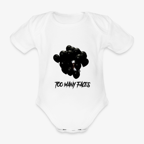 Too many faces (NF) - Organic Short-sleeved Baby Bodysuit