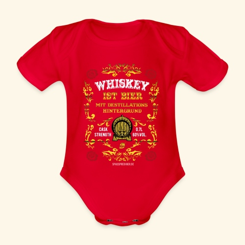Whiskey ist Bier - Baby Bio-Kurzarm-Body