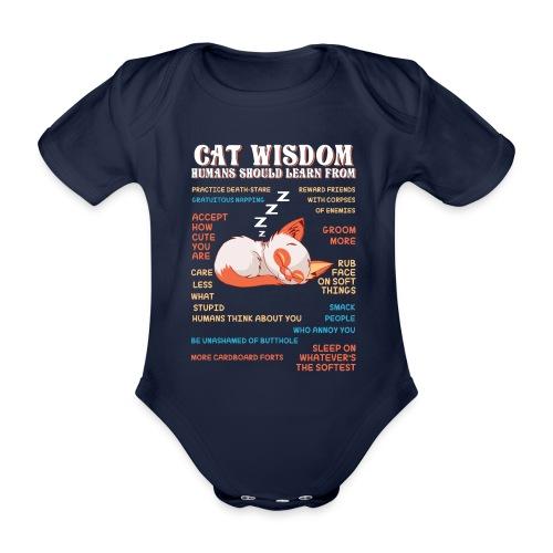 CAT WISDOM - Body Bébé bio manches courtes
