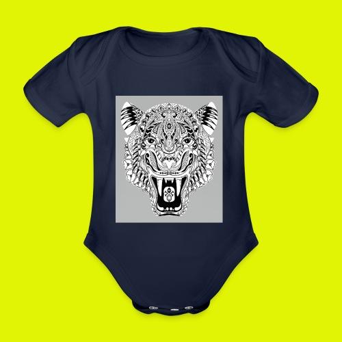 mandala tigre - Body ecologico per neonato a manica corta