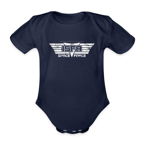 ISFA Spaceforce White grunge - Baby Bio-Kurzarm-Body
