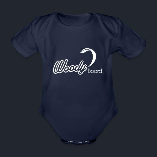 Logo Woodyboard Blanc - Body bébé bio manches courtes