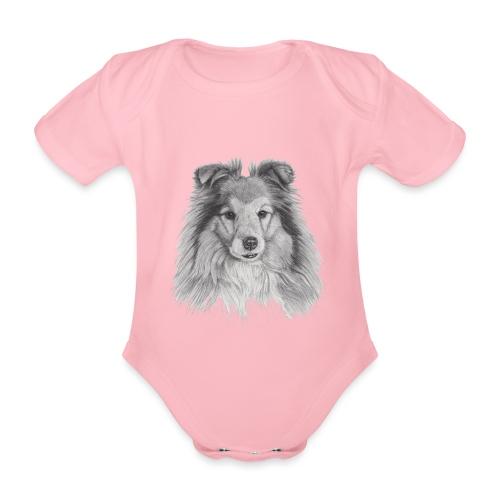 shetland sheepdog sheltie - Kortærmet babybody, økologisk bomuld