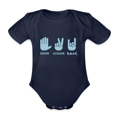 paper scissors rock c - Baby bio-rompertje met korte mouwen