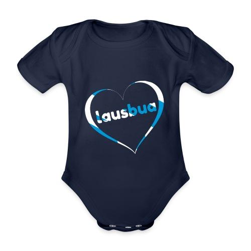 Lausbua - Bayrisch Dialekt Mundart - Baby Bio-Kurzarm-Body