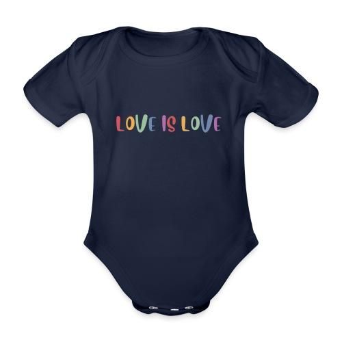 LOVEI is LOVE - Body orgánico de manga corta para bebé