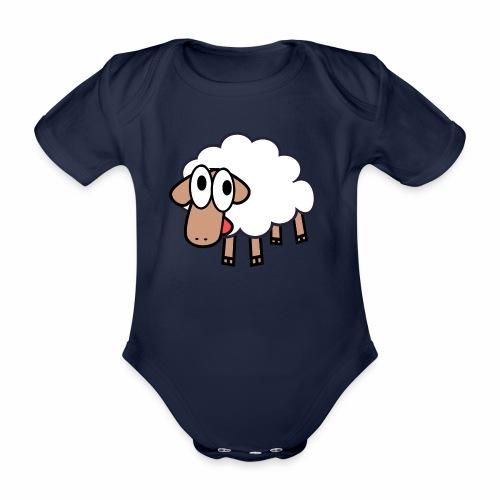 Sheep Cartoon - Baby bio-rompertje met korte mouwen
