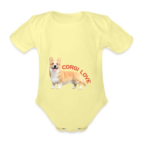 CorgiLove - Organic Short-sleeved Baby Bodysuit