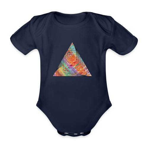 Triangle of twisted color - Organic Short-sleeved Baby Bodysuit