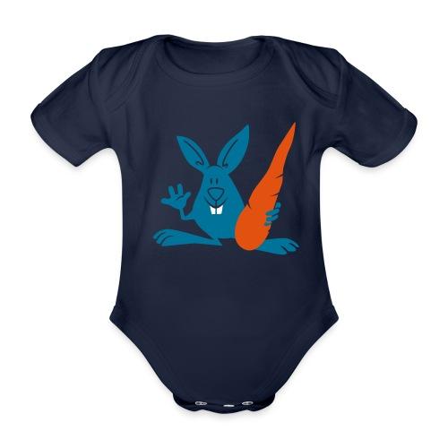 vl095c_hase_karotte_3c - Baby Bio-Kurzarm-Body