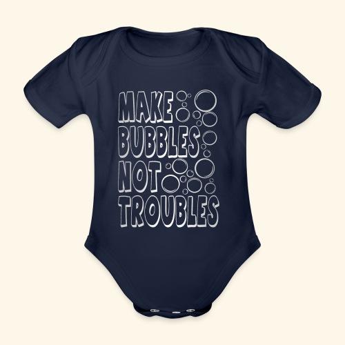 Bubbles003 - Baby bio-rompertje met korte mouwen