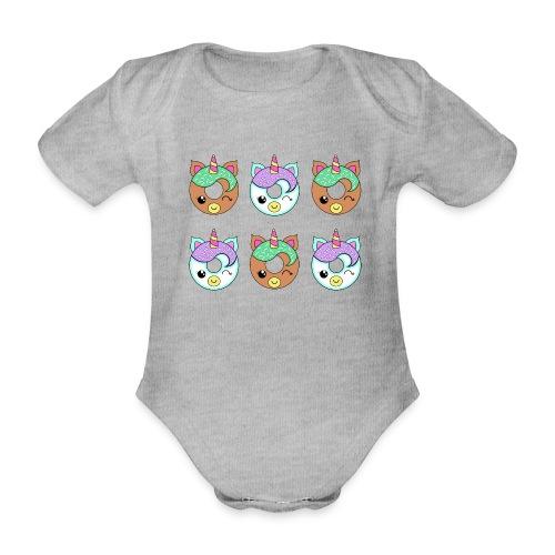 Unicorn Donut - Body ecologico per neonato a manica corta