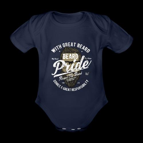 Beard Pride - Stolzer Bartträger - Baby Bio-Kurzarm-Body