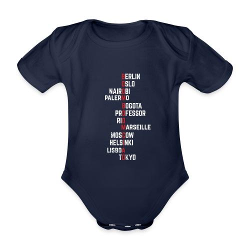 Boom boom Ciao Money Heist Funny Acronim - Body orgánico de maga corta para bebé