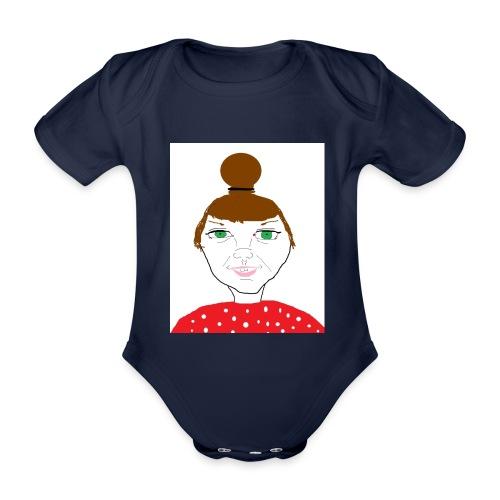 Bonny with a bun - Ekologisk kortärmad babybody