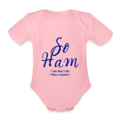 SOHAM - Body ecologico per neonato a manica corta