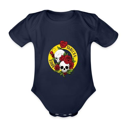SKULL'S N ROSES - Body orgánico de maga corta para bebé