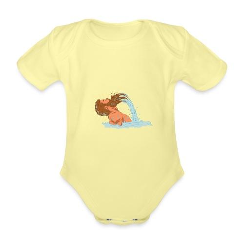 Bart Welle - lustiges Geschenk für Männer mit Bart - Baby Bio-Kurzarm-Body