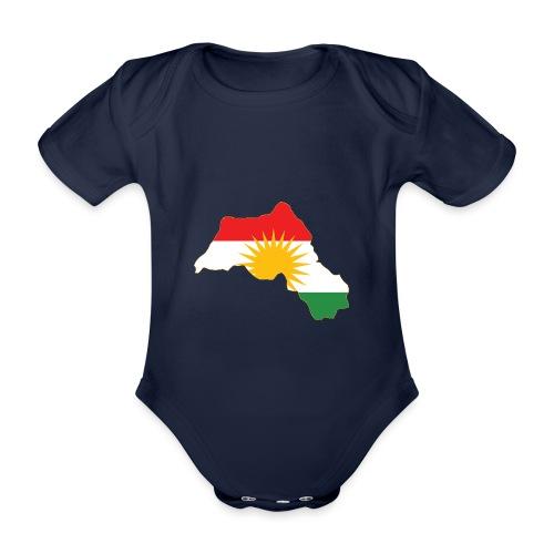 Kurdistan Flag Map - Baby Bio-Kurzarm-Body