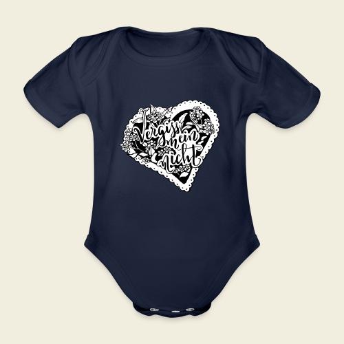 Vergissmeinnicht-Herz mit weißem Hintergrund - Baby Bio-Kurzarm-Body